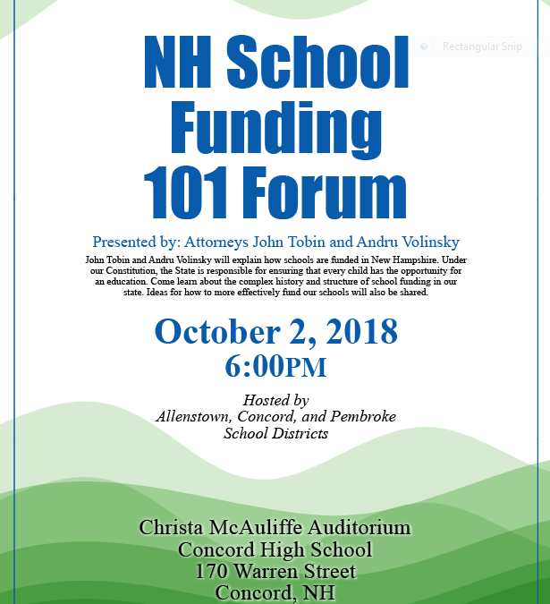 Expired: NH School Funding 101 Forum
